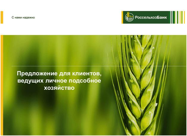 Кредит на развитие ЛПХ в Россельхозбанке: кредитный калькулятор